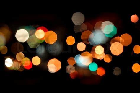 light background photography photo of bokeh lights on black background stock photo