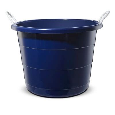 big plastic bathtub plastic storage tub large navy pillowfort target
