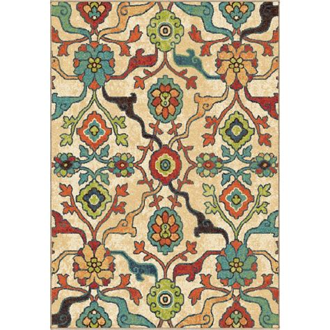 Bright Area Rug Orian Rugs Punjab Multi Floral Bright Colors 7 Ft 10 In X 10 Ft 10 In Indoor Area Rug 354744