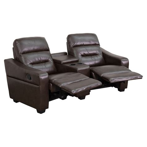 recliner theater seating futura series 2 seat leather theater seating unit