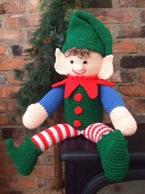 pattern for a christmas elf crochet pattern christmas elbert the elf by crochetvillage