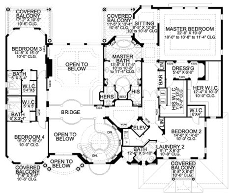 mediterranean style house plan 5 beds 7 5 baths 6679 sq