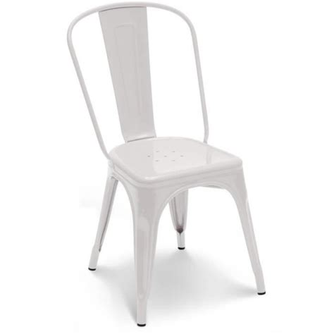 chaise empilable pas cher chaise en m 233 tal blanc empilable lot de 4 achat vente