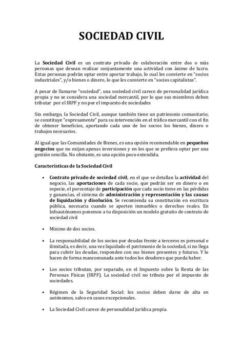 modelo de contrato de una sociedad civil crear empresas sociedad civil