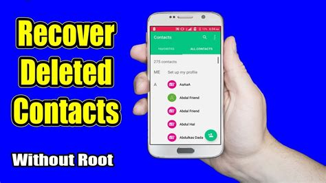 recover deleted photos android without root how to recover deleted or lost contacts from android device without root