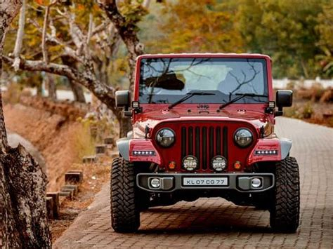mahindra thar modified to wrangler this customised thar is a drop dead gorgeous replica of