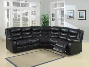 Black Sectional Leather Sofa Black Durable Bonded Leather Sectional Sofa Plushemisphere