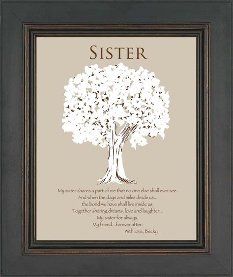SISTER Gift  Personalized Gift for Sister  Wedding Gift