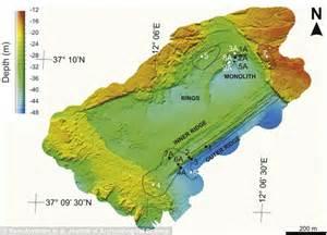 underwater stonehenge style rock found sicily coast in