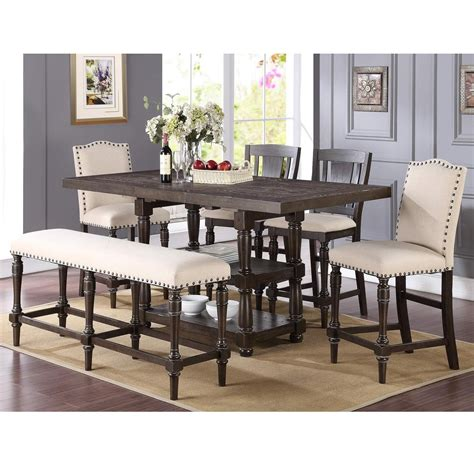 counter height table with upholstered chairs winners only xcalibur counter height dining set with