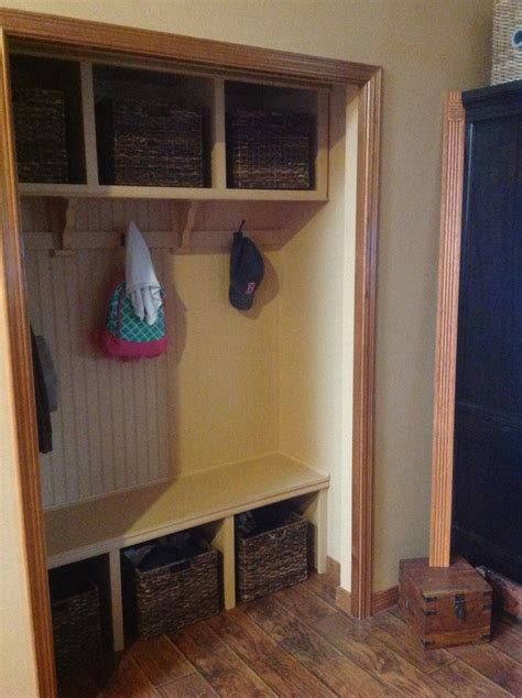 Mudroom Closet Designs by White Closet Mud Room Diy Projects