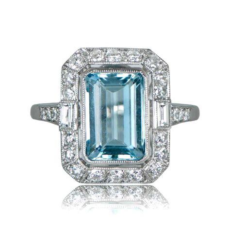 aquamarine engagement ring estate jewelry