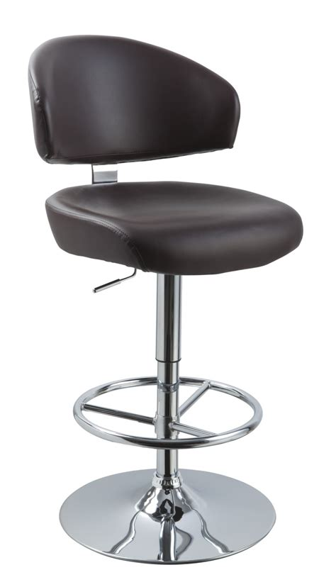Modern Bar Stools Leather by T1034 Eco Leather Brown Bar Stool