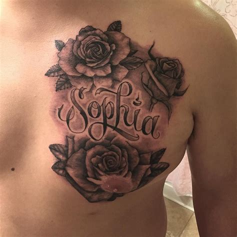 rose script tattoo photo by rory rudy on instagram