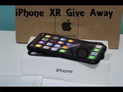 iphone xr unboxing look black giveaway