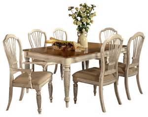 White Dining Set Hillsdale Wilshire 7 Rectangle Dining Room Set In
