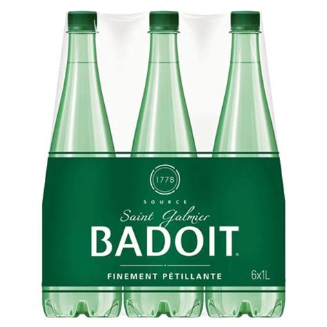 Badoit Sparkling Natural Mineral Water 6x1L Pack from