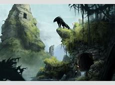 Artwork fantasy art jungle ruins- Image 2787x1745 ... Awesome Pictures Of Werewolves