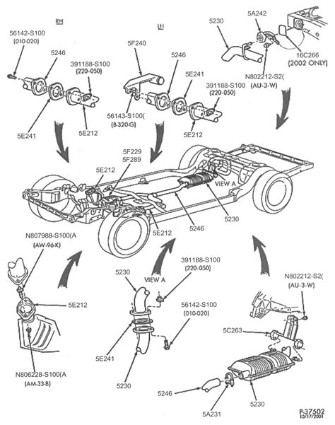 ford part diagrams ford crown interceptor exhaust parts
