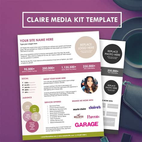 blogger media kit press kit template hipmediakits
