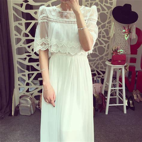 robe longue blanche dentelle vintage la mode des robes
