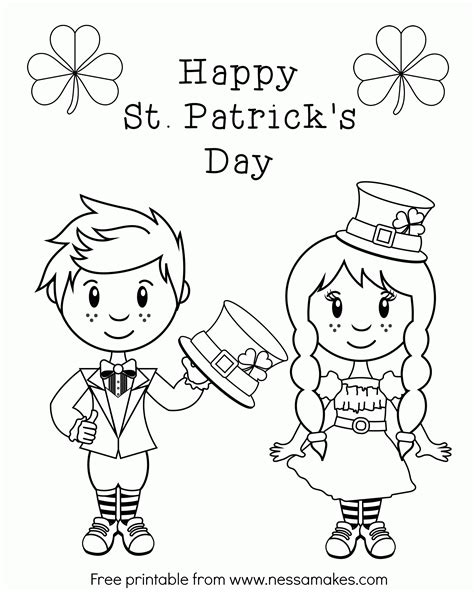 online coloring pages st patrick s day st patricks coloring pages for adults to color az