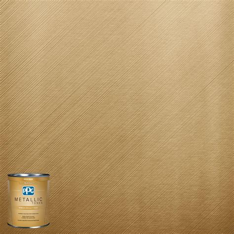 ppg metallic tones 1 qt mtl137 gilded gold metallic interior specialty finish paint mtl137 04