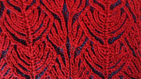 brioche knitting with two colors hearts two color brioche stitch knitting pattern free
