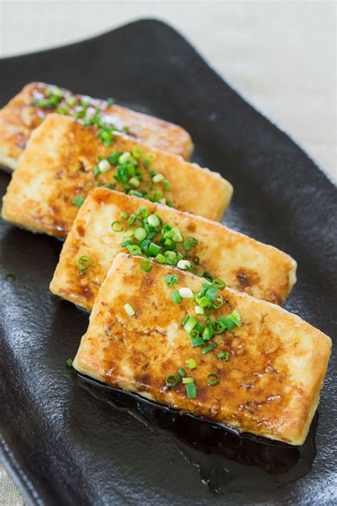 pan fried tofu with dark sweet soy sauce recipe dishmaps