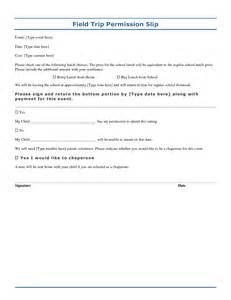 Permission slip template playbestonlinegames