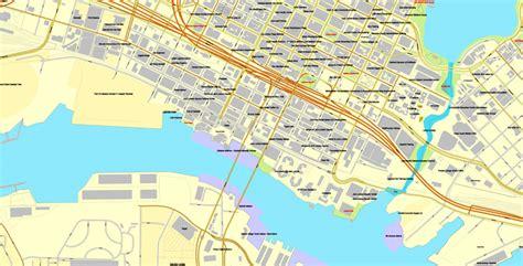 berkeley map alameda oakland berkeley california us vector map