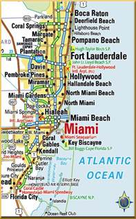 Map Of Miami Area by Miami Area Map Health Tourism Health Care Medical