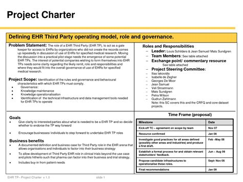 Best Photos Of Project Charter Document Project Charter Project Charter Template Powerpoint