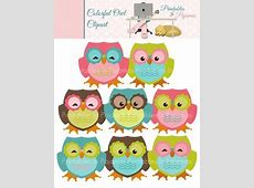 Colorful Owl Clipart by Printables in Pajamas | Teachers ... Free Clipart For Teachers Pay Teachers