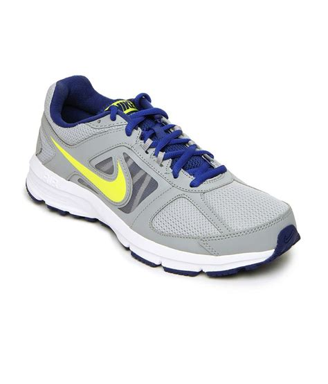 nike gray synthetic leather walking sports shoe price in