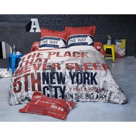 Couette Imprimée New York by Housse De Couette D 233 Cor New York Becquet Imprim 233