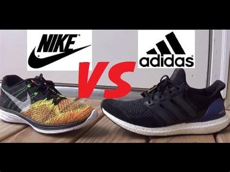 adidas ultra boost vs nike flyknit lunar 3 shoes