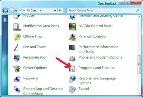 add or remove programs windows 7 how to add remove programs in windows 7