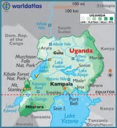 where is uganda on the world map world map uganda