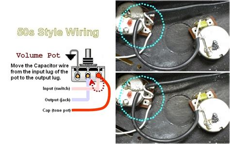 adapting les paul quot 50s style wiring quot far a master volume