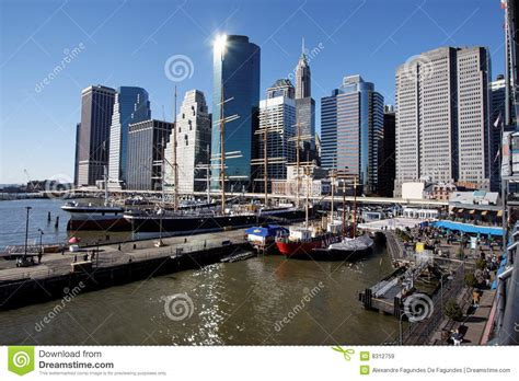 the dream boat new york times pier 17 sailing boats new york city editorial stock image