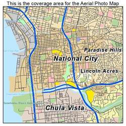 aerial photography map of national city ca california