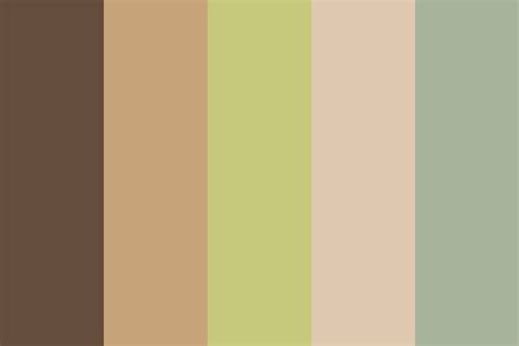 earth tone cafe color palette