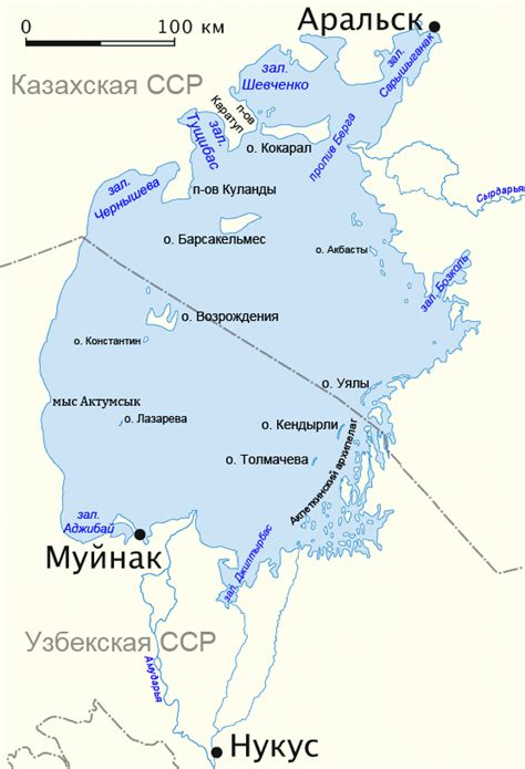 aral sea map file aral sea map 1960 rus png wikimedia commons