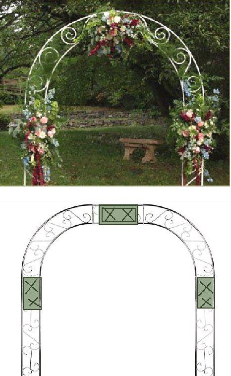 Wedding Arch Flowers by Wedding Arch Flowers Foam Cages For Arch Flowers