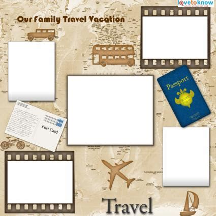 Travel Templates For Scrapbooking Lovetoknow Scrapbook Free Templates
