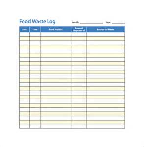 food log template 15 download free documents in pdf