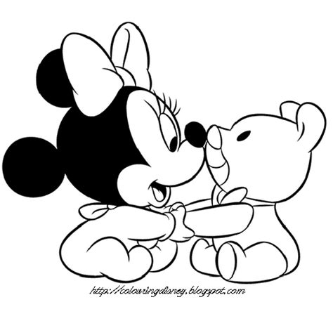 coloring pages of baby mickey mouse and friends disney coloring pages