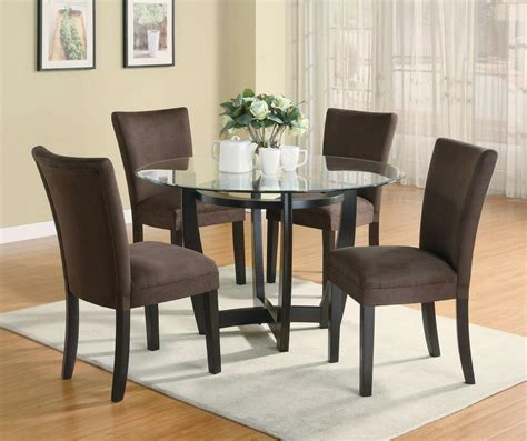dining table and chairs set stylish 5 pc dinette dining table parsons dining room