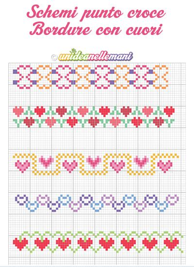 punto croce cornici schemi punto a croce bordure stabili printable